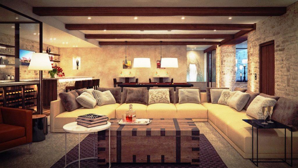 modern rustic living room ideas